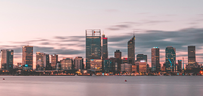Panormaic view of Perth CBD